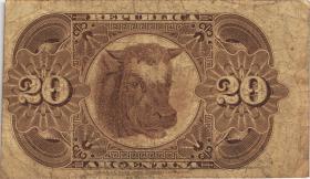 Argentinien / Argentina P.007 20 Pesos 1884 (3-)