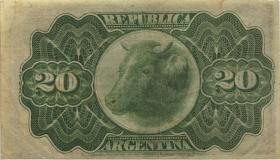 Argentinien / Argentina P.215 20 Centavos 1892 (3+)