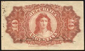 Argentinien / Argentina P.228 10 Centavos 1895 (2)