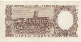 Argentinien / Argentina P.275a 5 Pesos (1960-62) (1)