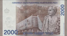 Armenien / Armenia P.neu 2000 Dram 2018 Polymer (1)