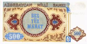 Aserbaidschan / Azerbaijan P.19b 500 Manat (1993) (1)