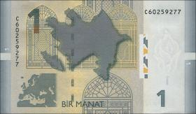 Aserbaidschan / Azerbaijan P.31 1 Manat 2009 (2013) (1)