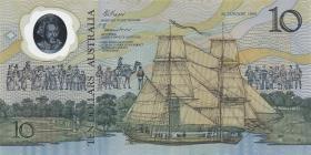 Australien / Australia P.49a 10 Dollars 1988 im Folder (1)