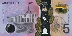 Australien / Australia P.62 5 Dollars (2016) Polymer (1)