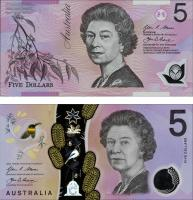Australien / Australia P.57+62 2x 5 Dollars Polymer im Folder(1)