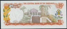Bahamas P.37a 5 Dollars L. 1974 (1)