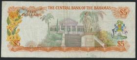 Bahamas P.37a 5 Dollars L. 1974 (3)