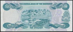 Bahamas P.46b 10 Dollars 1974 (1984) (2)