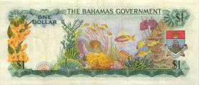 Bahamas P.18b 1 Dollar 1965 (3+)