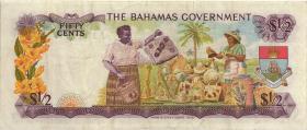 Bahamas P.26a 1/2 Dollar 1968 (3)