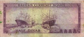 Bahrain P.03 1/2 Dinar L. 1964 (4)