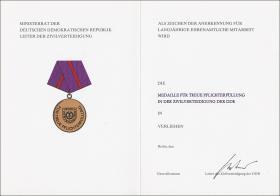 B.0279cU Treue Pflichterfüllung Zivilverteidigung Bronze