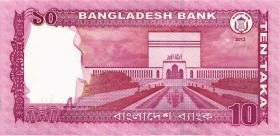 Bangladesch / Bangladesh P.54b 10 Taka 2013 (1)