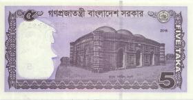 Bangladesch / Bangladesh P.64A 5 Taka 2016 (1)
