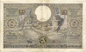 Belgien / Belgium P.107 100 Francs = 20 Belgas 1938 (2)