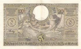 Belgien / Belgium P.107 100 Francs = 20 Belgas 1937 (2)