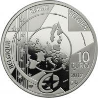 Belgien 10 Euro 2017 Bahnhof Antwerpen