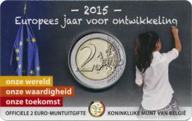 Belgien 2 Euro 2015 Europäisches Jahr der Entwicklung (wall.)