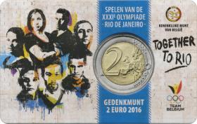 Belgien 2 Euro 2016 Olympische Spiele Rio - Team Belgien (wall.)