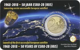 Belgien 2 Euro 2018 50 Jahre ESRO-2B (wall.)