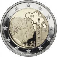 Belgien 2 Euro 2021 Belgisch-Luxemburgische Wirtschaftsunion PP