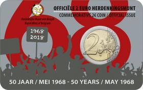 Belgien 2 Euro 2018 50. Jahrestag der Ereignisse vom Mai 1968 in Belgien (wallon.)
