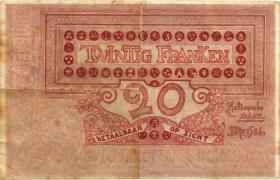 Belgien / Belgium P.067 20 Francs 1913 (3-)
