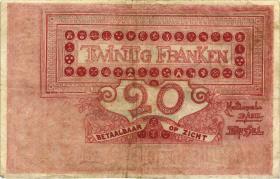 Belgien / Belgium P.067 20 Francs 1919 (3)