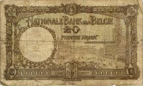 Belgien / Belgium P.098b 20 Francs 1928 (4)