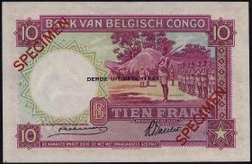 Belgisch-Kongo / Belgian Congo P.14Cs 10 Francs 1943