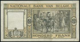 Belgien / Belgium P.126 100 Francs 1949 (3)