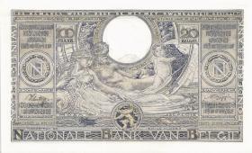 Belgien / Belgium P.107 100 Francs = 20 Belgas 1942 (1/1-)