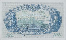 Belgien / Belgium P.109 500 Francs = 100 Belgas 1943 (1)