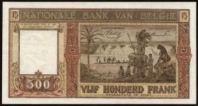 Belgien / Belgium P.127 500 Francs 1945 (2)