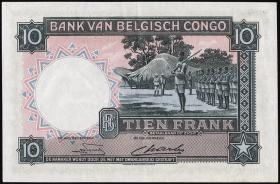 Belgisch-Kongo / Belgian Congo P.14E 10 Francs 1948 (2+)