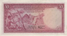 Belgisch-Kongo / Belgian Congo P.32 50 Francs 01.3.1957 (2+)