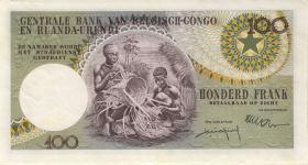 Belgisch-Kongo / Belgian Congo P.33a 100 Francs 1.1.1956 (2)