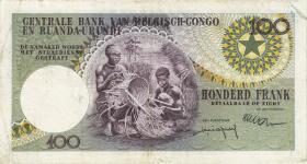 Belgisch-Kongo / Belgian Congo P.33b 100 Francs 1.11.1959 (3)
