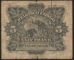 Belgisch-Kongo / Belgian Congo P.04 5 Francs 19.03.1919 Elisabethville (5)