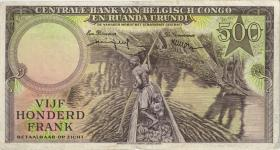 Belgisch-Kongo / Belgian Congo P.34 500 Francs 1957 (3)