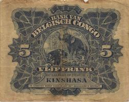Belgisch-Kongo / Belgian Congo P.04A 5 Francs 03.04.1924 Kinshasa (4)