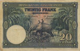 Belgisch-Kongo / Belgian Congo P.15E 20 Francs 10.04.1946 (3-)