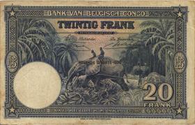 Belgisch-Kongo / Belgian Congo P.15H 20 Francs 11.04.1950 (3)