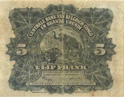 Belgisch-Kongo / Belgian Congo P.21 5 Francs 01.10.1952 (4)