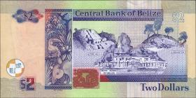 Belize P.66e 2 Dollars 2014 (1)