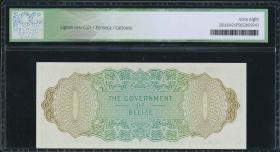 Belize P.33c 1 Dollar 1976 (1) ICG 68