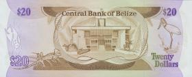 Belize P.49a 20 Dollars 1986 (1)