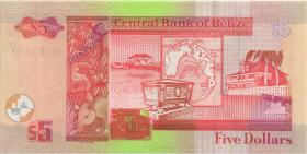 Belize P.67a 5 Dollars 2003 (1)