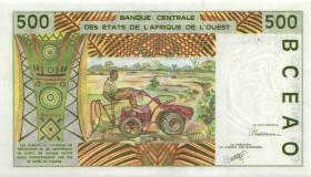 West-Afr.Staaten/West African States P.210Ba 500 Francs 1991 (1) Benin